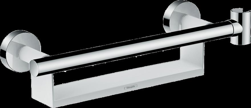 Дръжка за душ зона с поставка за козметика и закачалка за слушалка - HANSGROHE