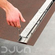 Линеен сифон модел LINUS комплект с решетка и рогов сифон - 80 cm