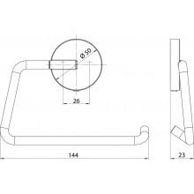 Черни аксесоари за баня: държач за тоалетна хартия ROUND - черен мат