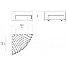 Ъглова поставка System2 - хром