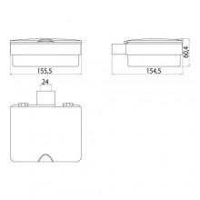 Аксесоари за баня хром: кутия за козметични кърпички LOFT - хром