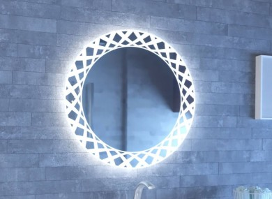Огледало CARMEN ZET  80 с LED осветление с нагревател и тъч