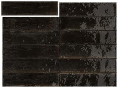 Гранитогрес Lume Black Lux 6x24