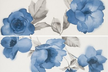 Декор Colourline Decoro Fiore White/Blue