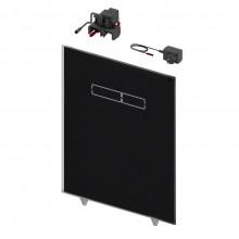 Структура за вграждане и панел TECE LUX Black glass