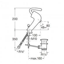 Смесител за  мивка Roca Silver Shadow 5A3040C00
