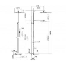 Душ колона с термостатен смесител Ergo Q - NEWFORM