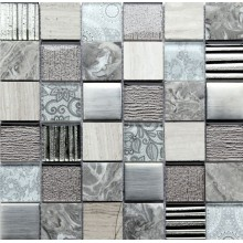 Стъклокерамична мозайка Elements Grey