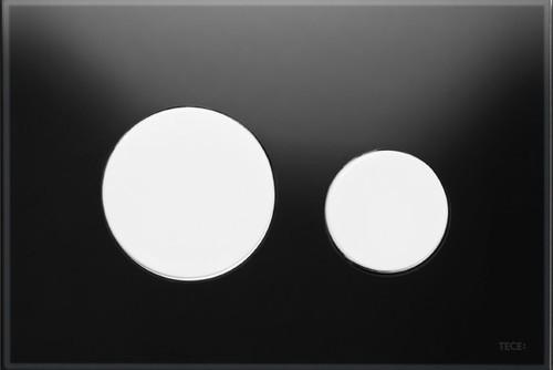 Активатор LOOP GLASS с пластмасови бутони бели и панел от черно стъкло