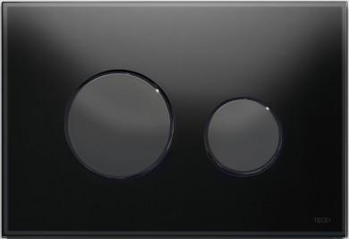 Активатор LOOP GLASS с пластмасови бутони черни и стъклен панел от черно стъкло