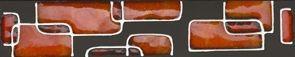Фриз Riflessi Rosso 5x25