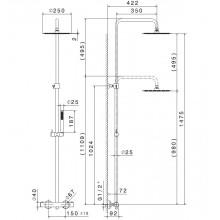 Душ колона с термостатен смесител Extro - NEWFORM