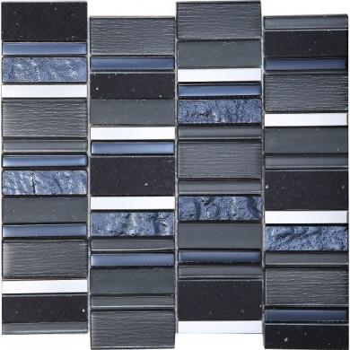 Стъклокерамична мозайка Stripes Carbon