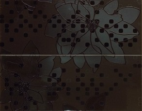 Декор Dots Big Flowers Coffee 40x50
