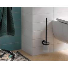 Черни аксесоари за баня: Окачена четка за тоалетна чиния ROUND - черен мат