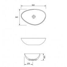 Мивка  MODUO 55 тип КУПА за плот - асиметрична