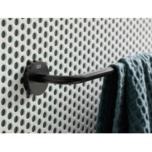 Черни аксесоари за баня: държач за кърпи 50см ROUND - черен мат