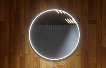 Огледало LUPE 70 с черна метална рамка, LED осветление и нагревател
