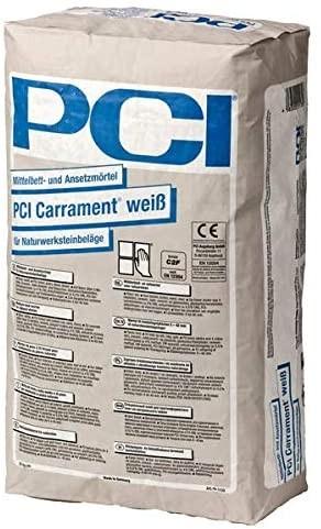 Циментово лепило PCI Carrament Weiss,  клас C2 FE