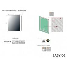 Огледало EASY 80x80 с LED осветление с нагревател и тъч