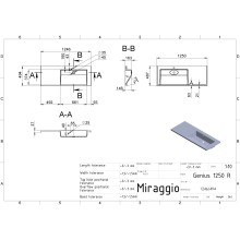 Мивка GENIUS 1250R 124.8x48.7