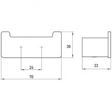 Черни аксесоари за баня: двойна закачалка LOFT - черен мат