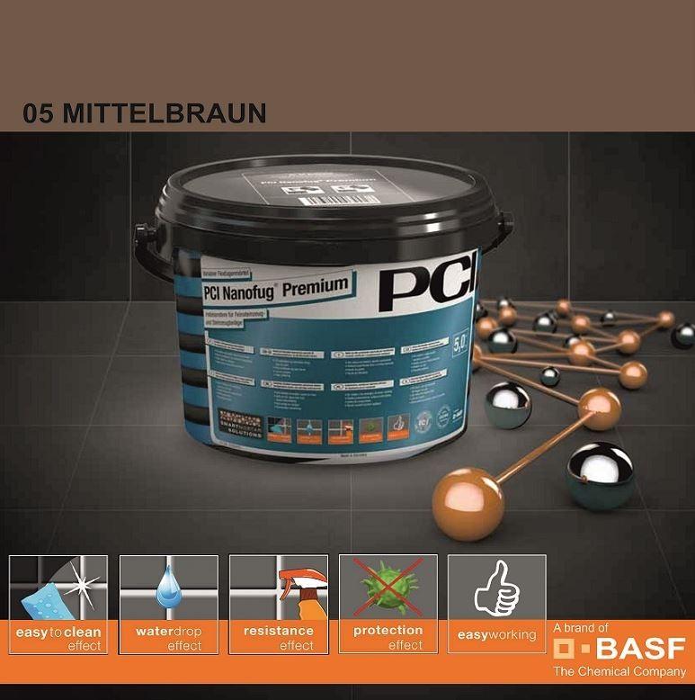 Фугираща смес Nanofug Premium - 05 Mittelbraun  5кг