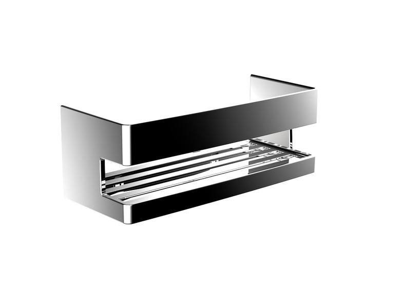 Аксесоари за баня хром: правоъгълна поставка System2 - хром