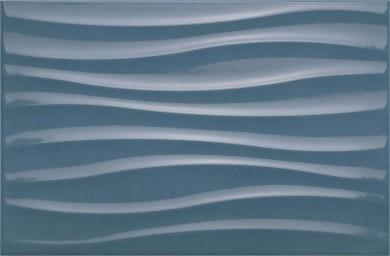 Стенни плочки Chroma Blue Struttura Tide 3D 25x38