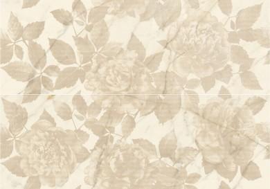Декор Allmarble Wall Golden White Decoro Rose Satin 80x120