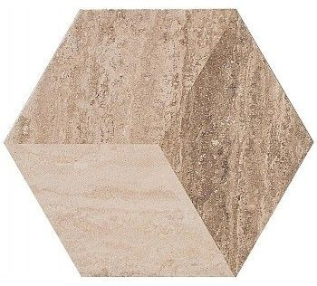 Гранитогрес Allmarble Decoro Travertino 21x18,2