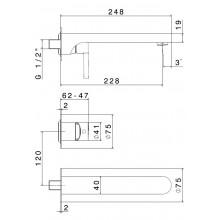 Стенен смесител за вграждане мивка/вана Ergo - NEWFORM