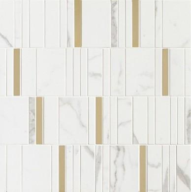 Декор Allmarble Wall Statuario Mosaico Barcode Lux 40x40