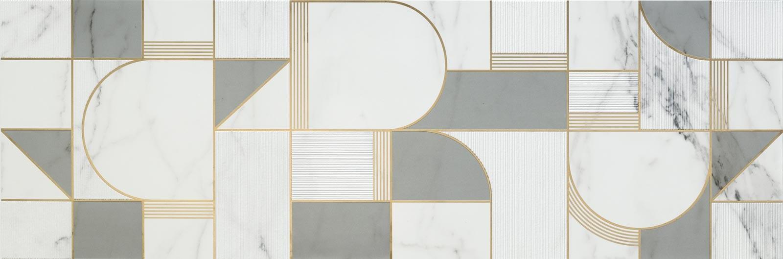 Декор Allmarble Wall Statuario Decoro Club Satin 40x120