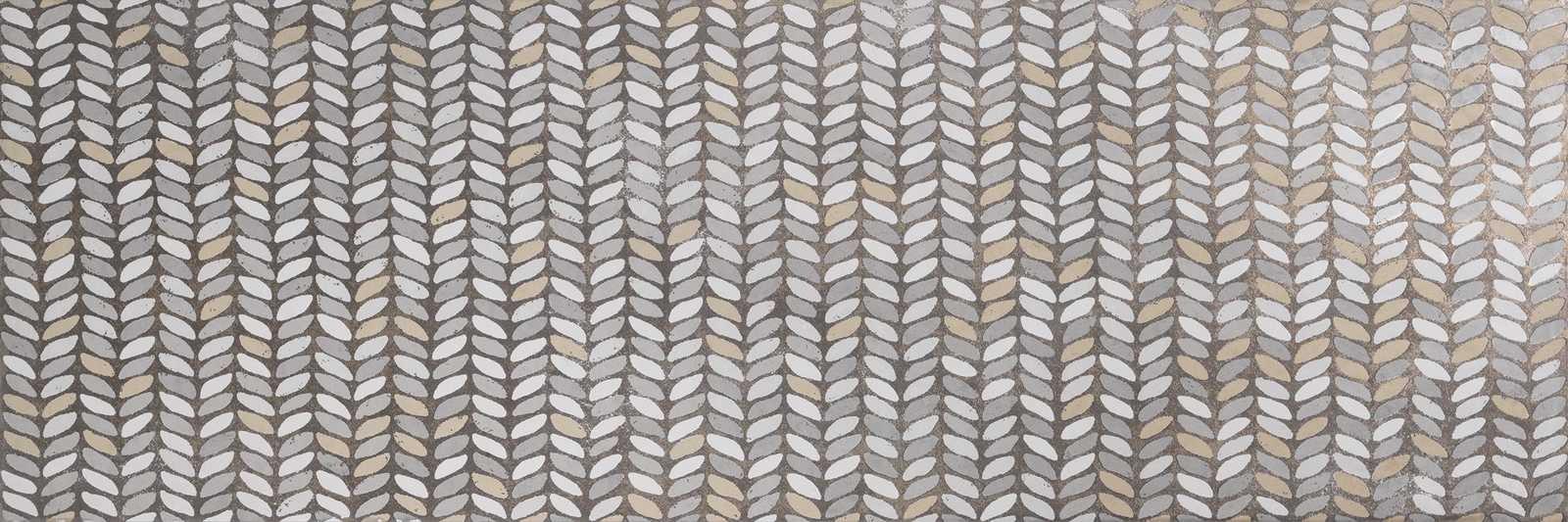 Декор Fresco Decoro Leaves Light/Pencil/Shadow 32,5x97,7