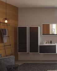 Окачен шкаф 75см с плот с интегрирана мивка PANDORA