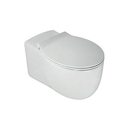 Окачена тоалетна чиния LE FIABE БЕЗ РЪБОВЕ с капак плавно затваряне