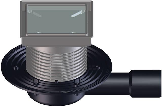 Сифон за баня HL 90Pr-3020 - за вграждане на плочка