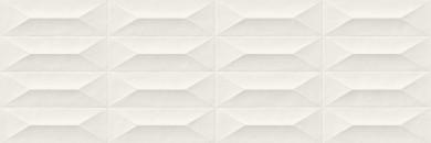 Стенни плочки Colorplay White Strutturata Cabochon 3D 30x90