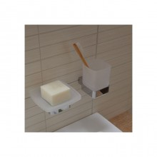 Аксесоари за баня хром: окачена чашка LOFT - хром