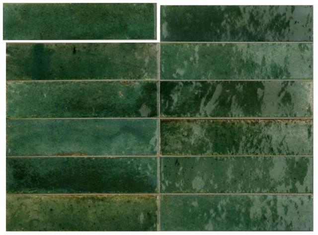 Гранитогрес Lume Green Lux 6x24