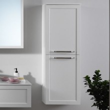 Окачен шкаф 110см с плот с интегрирана мивка BLANCHE UB110WH