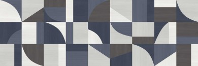 Декор Carioca White/Anthracite/Blue 40x120