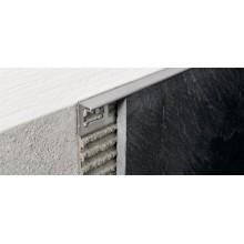 PTACS 08 PROTERMINAL ъглов завършващ профил от сатинирана стомана 8 мм
