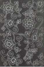 Декор Lace Negro 25x38