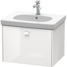 Окачен шкаф 63см с мивка D-CODE - бял гланц