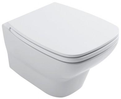 Окачена тоалетна чиния DAILY БЕЗ РЪБОВЕ с капак плавно затваряне TAKE-OFF
