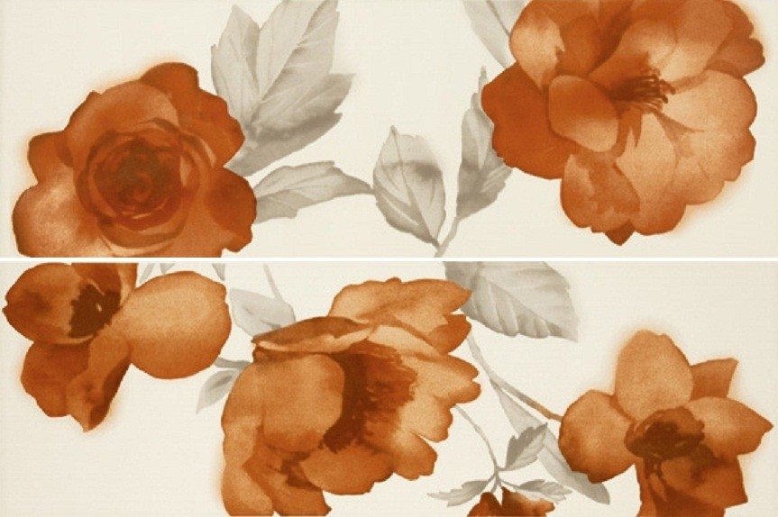Декор Colourline Decoro Fiore Ivory/Orange