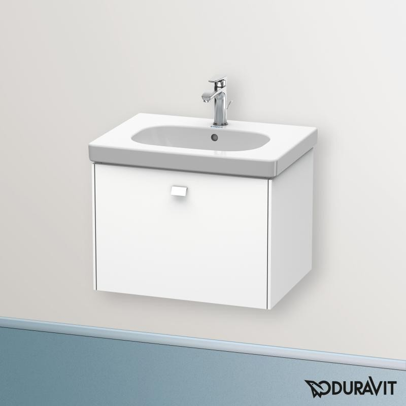 Окачен шкаф 63см с мивка D-CODE - бял мат