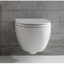 Окачена тоалетна чиния 4ALL БЕЗ РЪБОВЕ с капак плавно затваряне